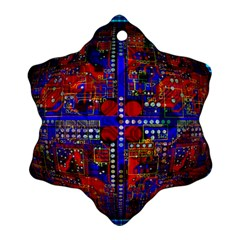 Board Interfaces Digital Global Snowflake Ornament (two Sides) by Sapixe
