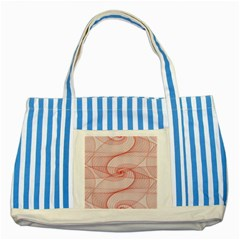 Red Pattern Abstract Background Striped Blue Tote Bag by Sapixe