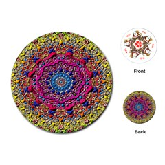Background Fractals Surreal Design Playing Cards (round)  by Sapixe