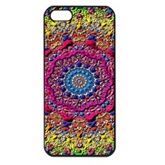 Background Fractals Surreal Design Apple Iphone 5 Seamless Case (black) by Sapixe