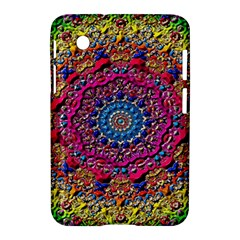 Background Fractals Surreal Design Samsung Galaxy Tab 2 (7 ) P3100 Hardshell Case  by Sapixe