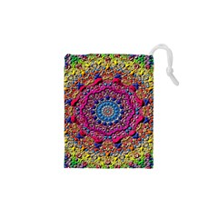 Background Fractals Surreal Design Drawstring Pouches (xs)  by Sapixe