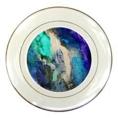 Blue Sensations Porcelain Plates by Art2City
