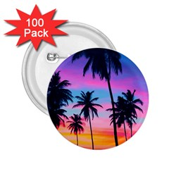 Sunset Palms 2 25  Buttons (100 Pack)  by goljakoff