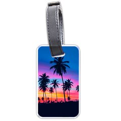 Sunset Palms Luggage Tags (one Side)  by goljakoff