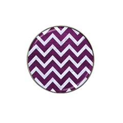 Chevron9 White Marble & Purple Leather Hat Clip Ball Marker (10 Pack) by trendistuff