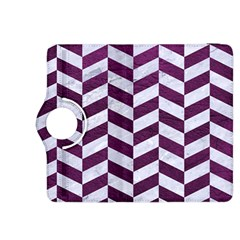 Chevron1 White Marble & Purple Leather Kindle Fire Hdx 8 9  Flip 360 Case by trendistuff