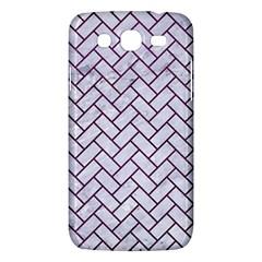 Brick2 White Marble & Purple Leather (r) Samsung Galaxy Mega 5 8 I9152 Hardshell Case  by trendistuff
