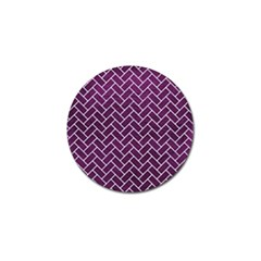 Brick2 White Marble & Purple Leather Golf Ball Marker (10 Pack) by trendistuff