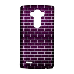 Brick1 White Marble & Purple Leather Lg G4 Hardshell Case by trendistuff