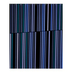 Shades Of Blue Stripes Striped Pattern Shower Curtain 60  X 72  (medium)  by yoursparklingshop