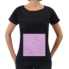 Woven2 White Marble & Purple Glitter Women s Loose Fit T Shirt (black) by trendistuff