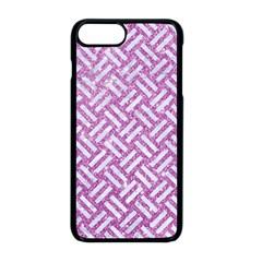 Woven2 White Marble & Purple Glitter Apple Iphone 8 Plus Seamless Case (black) by trendistuff