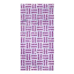 Woven1 White Marble & Purple Glitter (r) Shower Curtain 36  X 72  (stall)  by trendistuff