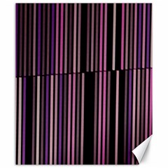 Shades Of Pink And Black Striped Pattern Canvas 20  X 24   by yoursparklingshop