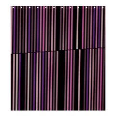 Shades Of Pink And Black Striped Pattern Shower Curtain 66  X 72  (large)  by yoursparklingshop