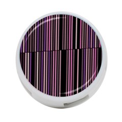 Shades Of Pink And Black Striped Pattern 4 Port Usb Hub (two Sides)  by yoursparklingshop