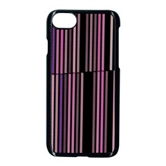 Shades Of Pink And Black Striped Pattern Apple Iphone 8 Seamless Case (black) by yoursparklingshop