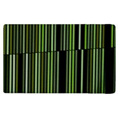 Shades Of Green Stripes Striped Pattern Apple Ipad Pro 12 9   Flip Case