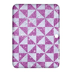 Triangle1 White Marble & Purple Glitter Samsung Galaxy Tab 4 (10 1 ) Hardshell Case  by trendistuff