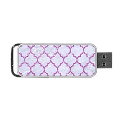 Tile1 White Marble & Purple Glitter (r) Portable Usb Flash (two Sides) by trendistuff