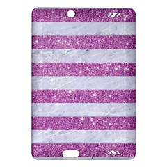 Stripes2white Marble & Purple Glitter Amazon Kindle Fire Hd (2013) Hardshell Case by trendistuff