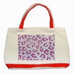 Skin5 White Marble & Purple Glitter Classic Tote Bag (red)