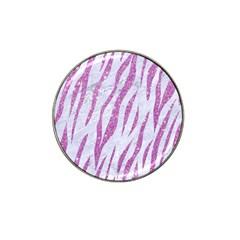 Skin3 White Marble & Purple Glitter (r) Hat Clip Ball Marker (10 Pack) by trendistuff
