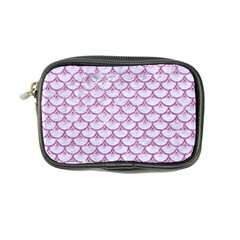 Scales3 White Marble & Purple Glitter (r) Coin Purse by trendistuff