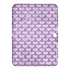 Scales3 White Marble & Purple Glitter (r) Samsung Galaxy Tab 4 (10 1 ) Hardshell Case  by trendistuff