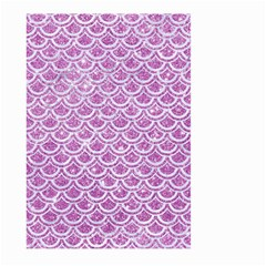 Scales2 White Marble & Purple Glitter Large Garden Flag (two Sides) by trendistuff