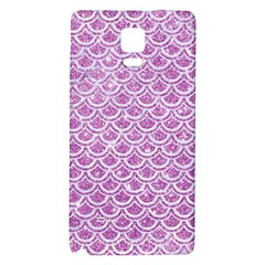Scales2 White Marble & Purple Glitter Galaxy Note 4 Back Case by trendistuff