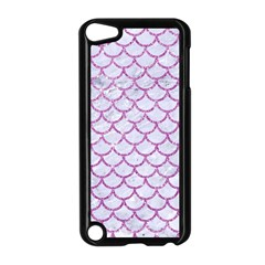 Scales1 White Marble & Purple Glitter (r) Apple Ipod Touch 5 Case (black) by trendistuff