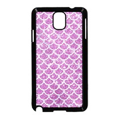 Scales1 White Marble & Purple Glitter Samsung Galaxy Note 3 Neo Hardshell Case (black) by trendistuff