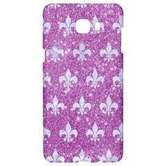 Royal1 White Marble & Purple Glitter (r) Samsung C9 Pro Hardshell Case  by trendistuff