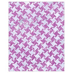 Houndstooth2 White Marble & Purple Glitter Drawstring Bag (small)