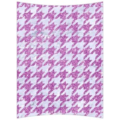 Houndstooth1 White Marble & Purple Glitter Back Support Cushion by trendistuff