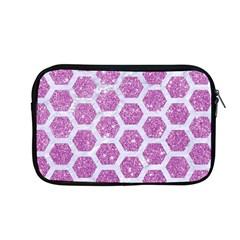 Hexagon2 White Marble & Purple Glitter Apple Macbook Pro 13  Zipper Case by trendistuff