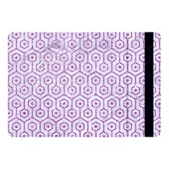 Hexagon1 White Marble & Purple Glitter (r) Apple Ipad Pro 10 5   Flip Case