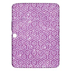 Hexagon1 White Marble & Purple Glitter Samsung Galaxy Tab 3 (10 1 ) P5200 Hardshell Case  by trendistuff