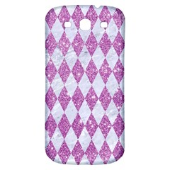 Diamond1 White Marble & Purple Glitter Samsung Galaxy S3 S Iii Classic Hardshell Back Case by trendistuff
