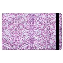 Damask2 White Marble & Purple Glitter (r) Apple Ipad Pro 9 7   Flip Case