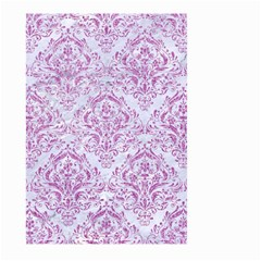 Damask1 White Marble & Purple Glitter (r) Large Garden Flag (two Sides) by trendistuff