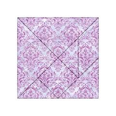 Damask1 White Marble & Purple Glitter (r) Acrylic Tangram Puzzle (4  X 4 ) by trendistuff