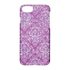 Damask1 White Marble & Purple Glitter Apple Iphone 8 Hardshell Case