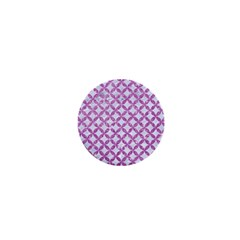 Circles3 White Marble & Purple Glitter (r) 1  Mini Magnets