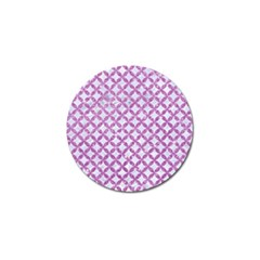 Circles3 White Marble & Purple Glitter (r) Golf Ball Marker (4 Pack)