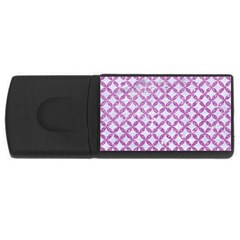Circles3 White Marble & Purple Glitter (r) Rectangular Usb Flash Drive