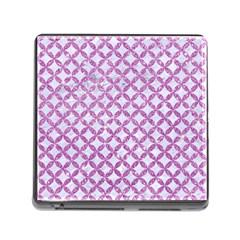 Circles3 White Marble & Purple Glitter (r) Memory Card Reader (square)