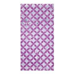 Circles3 White Marble & Purple Glitter (r) Shower Curtain 36  X 72  (stall)